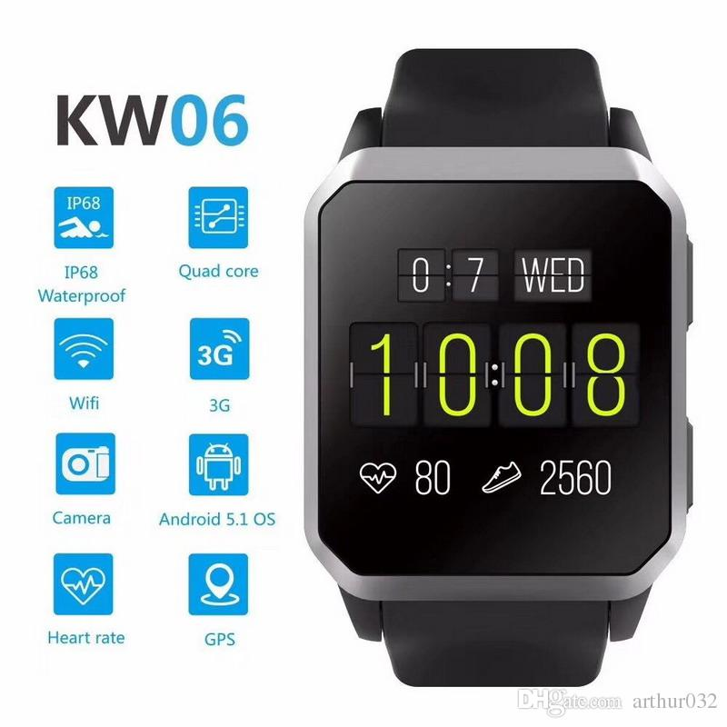 KW06 smart watch SIM card GPS positioning IP68 waterproof watch heart rate monitoring smart Bluetooth for Android IOS phone