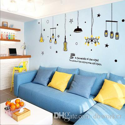 Bulk Lots 240*106cm Star & Lighting Wall Stickers Wallpaper Paper Peint 3d Home Decor Bathroom Kitchen Accessories Household Suppllies