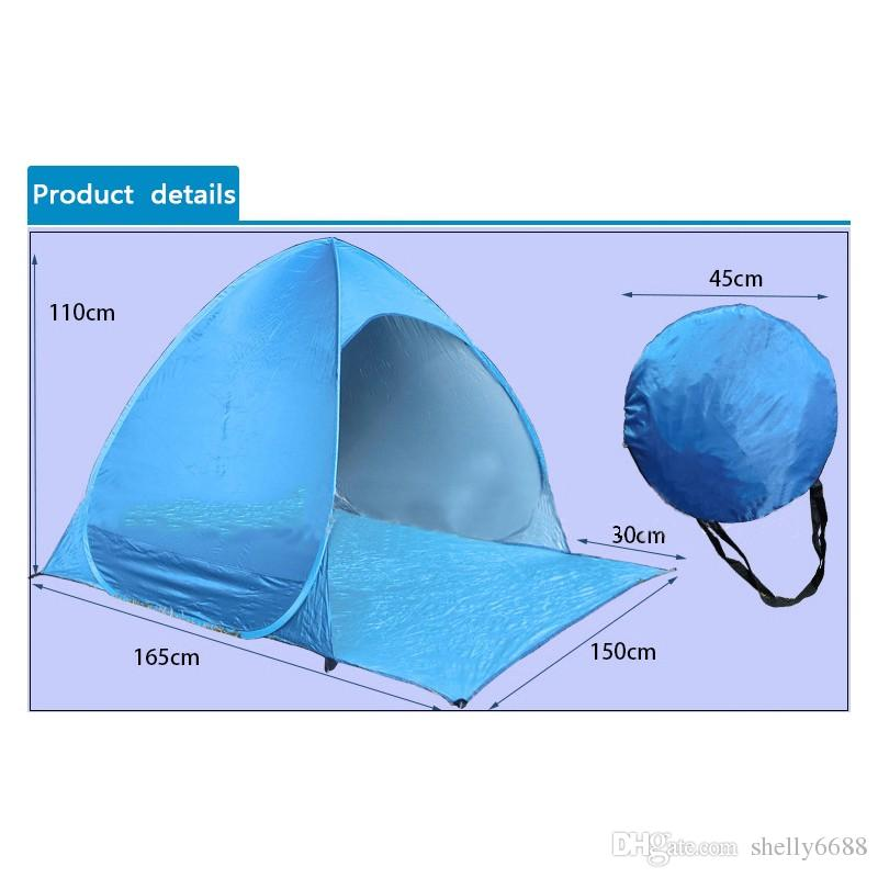 hot sale Beach Tent Ultralight Folding Tent Pop Up Automatic Open Tent Family Tourist Fish Camping Anti-UV Fully Sun Shade
