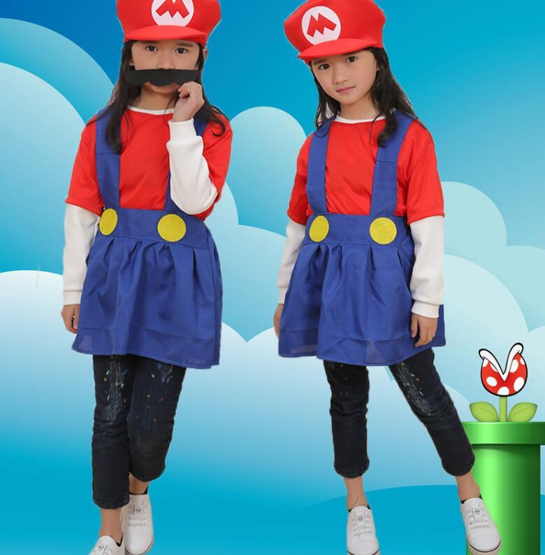 Compre Niños Super Mario Brothers Vestido Cosplay Traje Divertido Disfraces  Disfraces De Fiesta Sombrero Bigote Vestido Para Niño Regalo KKA5789 A   6.79 Del ... fb7e507a2de