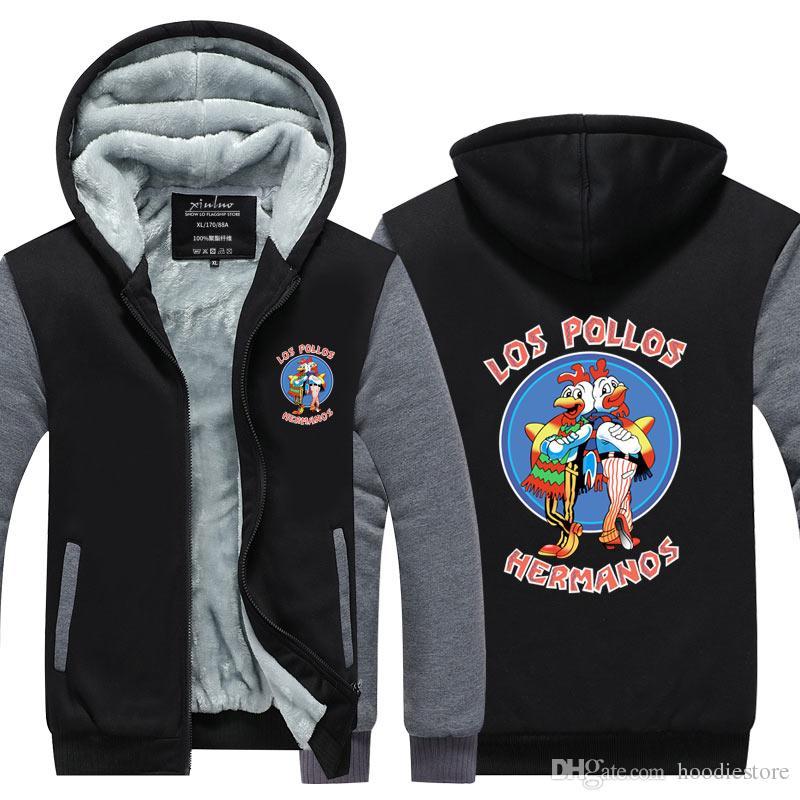 Men Fashion Breaking Bad Jacket 2018 LOS POLLOS Hermanos Hoodie ... bbbe8c42a