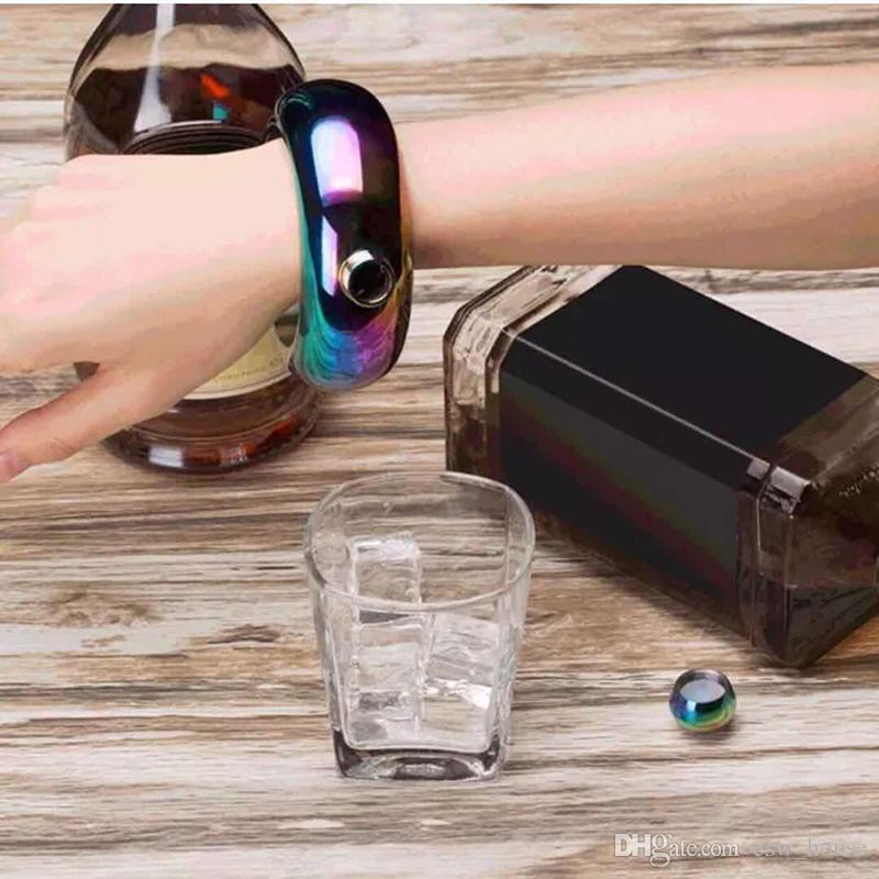 ronde bracelet Bracelet Hip Flask 3.5oz 304 En Acier Inoxydable Arc En Ciel Liquide Vodka Whiskey Drinkware Alcool Entonnoir Bouteille de vin Russe