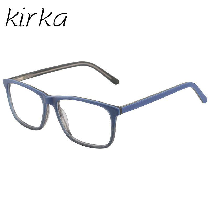 dd44f56df61d 2019 Kirka 2017 New Arrival Acetate Men Blue Eyewear Frame Handsome Offtype  Mens Glasses Frames For Goggle And Reading From Bojiban