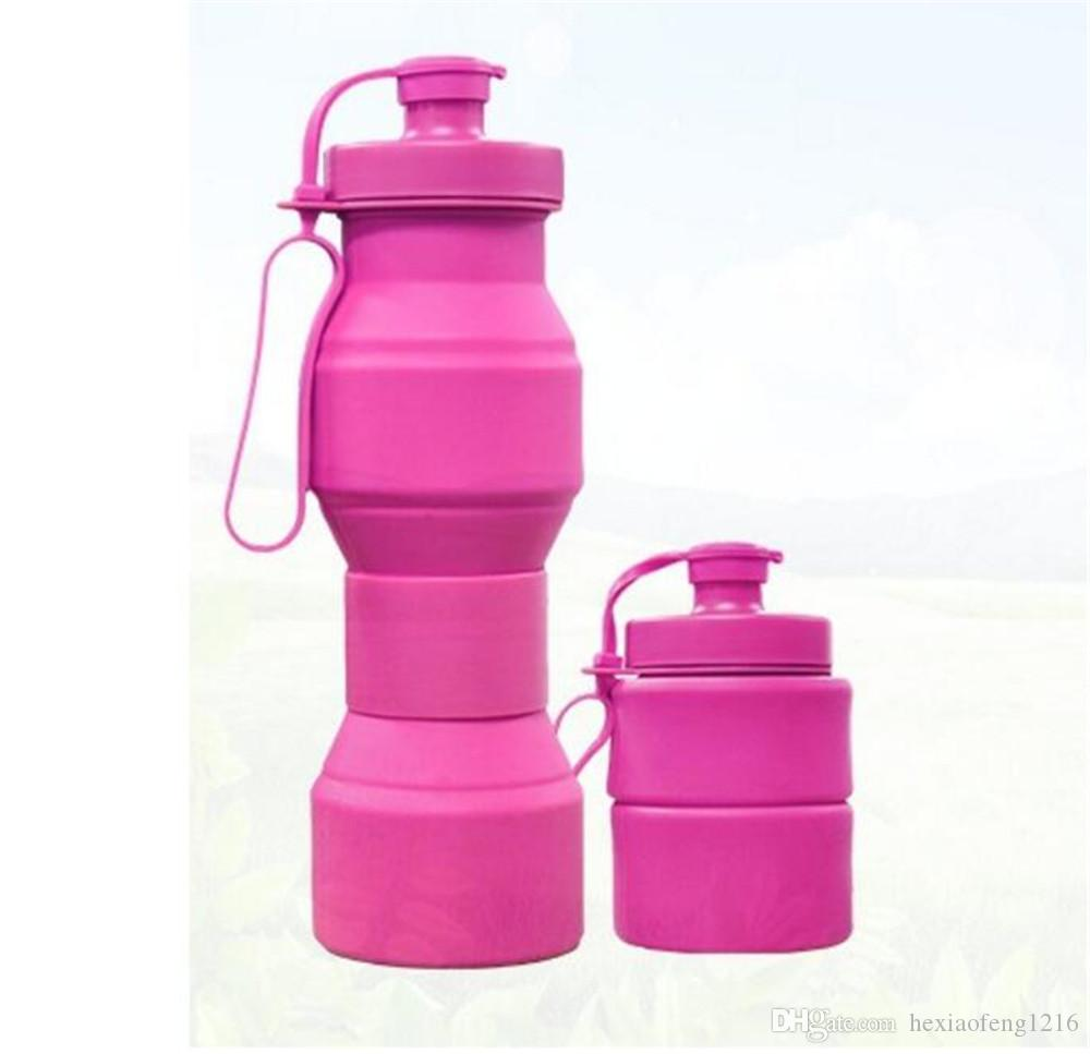 Creative Silicone Folding Bottle Drinking Water bottles Sport Portable drinking bottle Readily bottle multi color Free BPA B1924