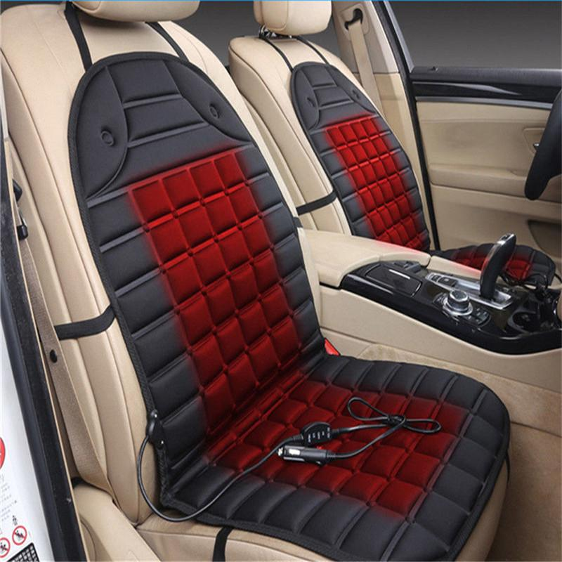 Auto 12V Universal Electric Car Heated Seat Cushion Cover Heating Warmer Massage Pad For Winter Conjoined Supplies Padding