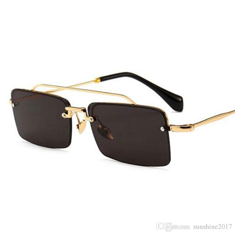 e2e73358fb 2018 New Vintage Sunglasses Men Women Brand Designer Rectangle Sun Glasses  Ladies Small Retro Shades UV400 Red Brown Glasses Prescription Glasses  Online ...