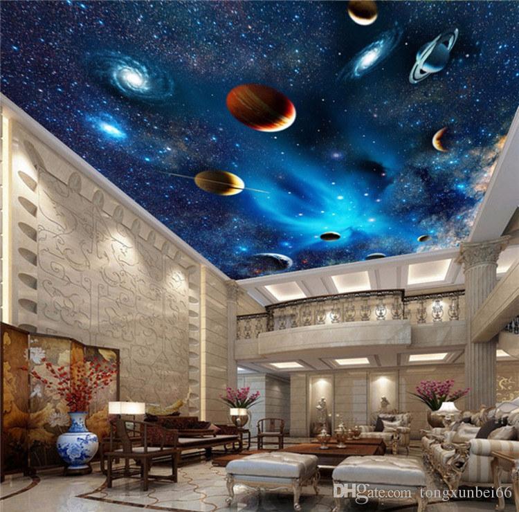 Custom 3d space mural wallpaper astronomical galaxy planet - Space wallpaper room ...