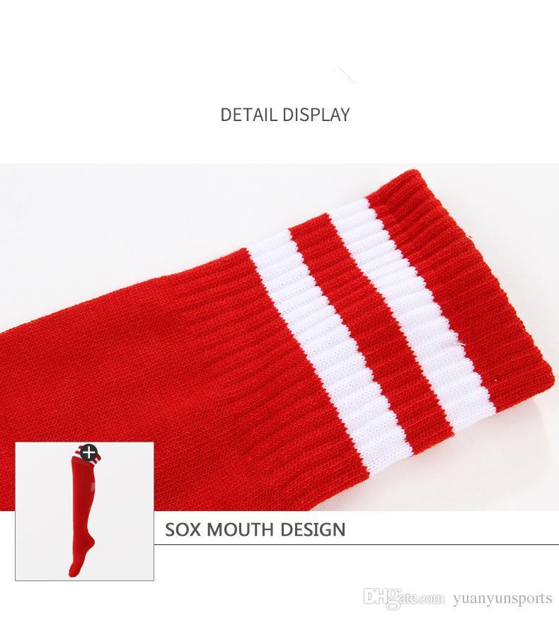 Yüksek kaliteli kaymaz futbol çorapları 2018 rusya'nın Dünya Kupası ev eğitim çorap spor çorap futbol ekipmanları çorap