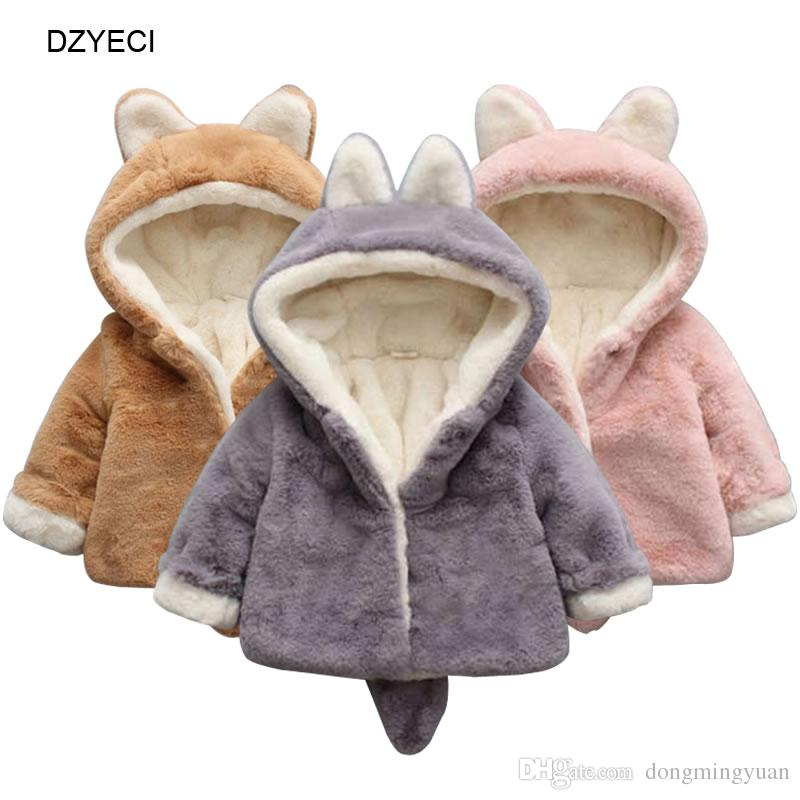 31892e0c1488 Fall Winter Animals Warm Hooded Coat For Baby Boy Girl Outwear ...