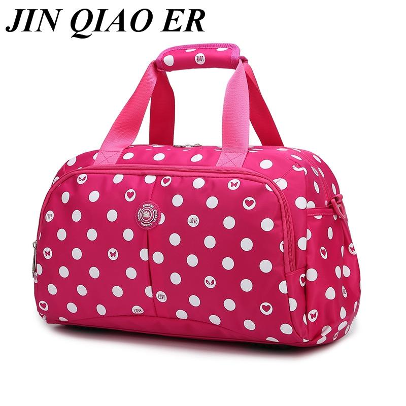 Lovely Women Travel Bags Large Capacity Girl Luggage Travel Duffle Shoulder  Bags Nylon Handbag Weekend Tote Bag For Trip Wheeled Duffle Bags Carry Bags  From ... 41abf0b46dd6a