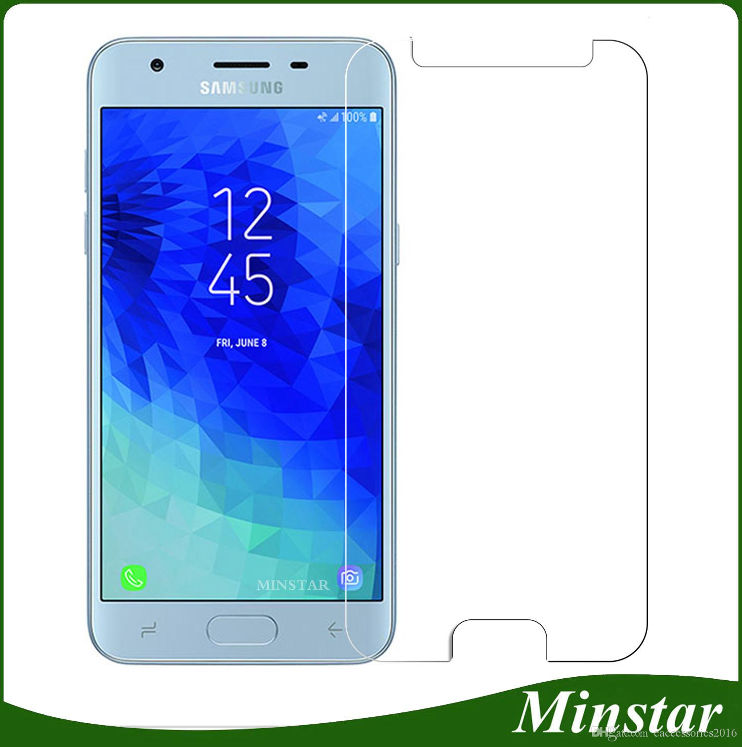 For Samsung Galaxy J3 Achieve J3 Star J337 2018 Boost Mobile New Thin Smooth Tempered Glass Metro Pcs Anti Scratch Screen Protector Package Anti Scratch