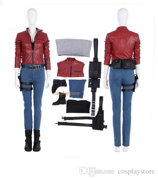 9274e3e901 Acquista Nuovo Gioco Resident Evil 2 Costume Cosplay Donne Claire Costume  Cosplay Halloween Donne Gioco Set Completo Custom Made A $232.49 Dal  Cosplaystore ...