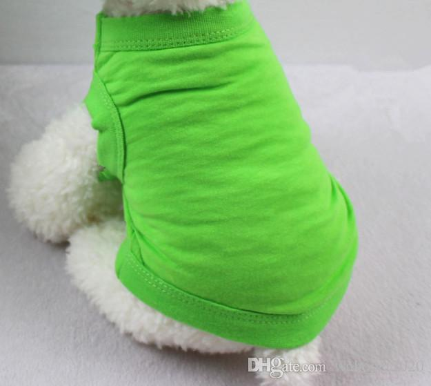 pet dog puppy T shirt solid color cat summer clothing clothes XS-XXL