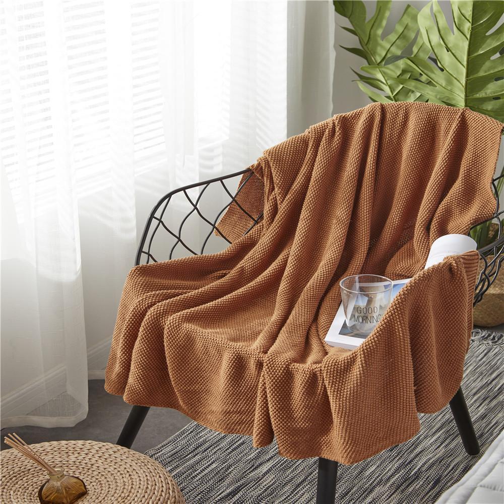 Großhandel Baumwolle Nadel Stricken Decke Für Betten Sofa Oder Büro