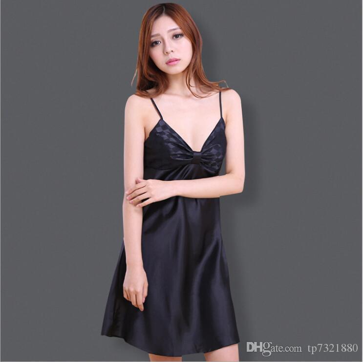 27438d8fde Women Nightgown Robe Summer Kimono Bathrobe Short Sleeve Satin Robes Lady Dressing  Gown Home Sleepwear Bridesmaid Women s Dressing Gown Women T-shirt ...