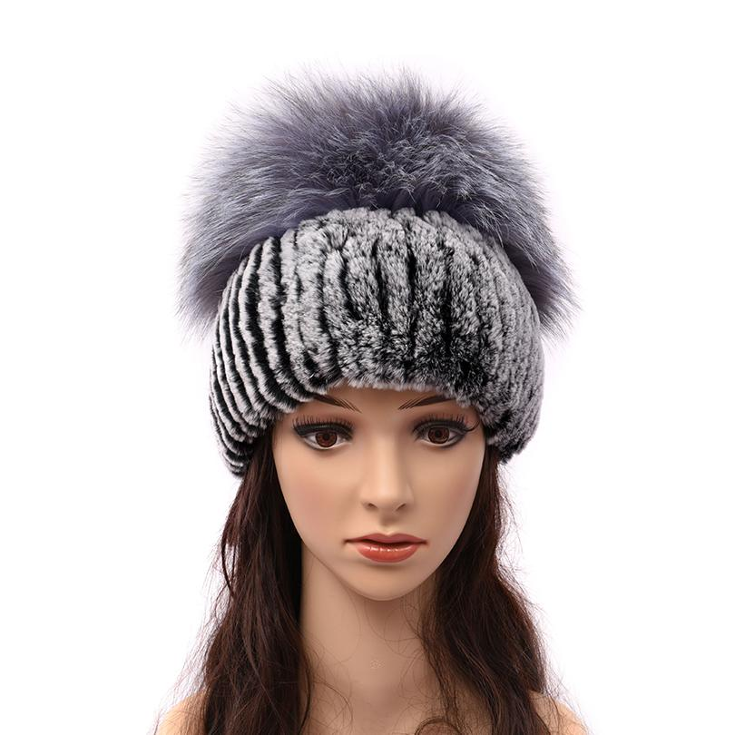 Women Warm Genuine Fur Hats Natural Rex Rabbit Fur Fox Skin Top Mushroom  Shape Caps 2018 Winter New Female Casual Beanies Custom Beanies Crochet  Beanie ... 83f51e2ee54