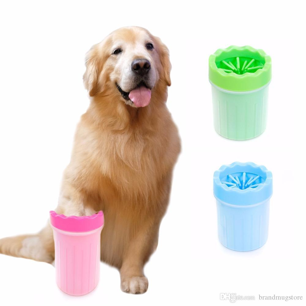 Dog Paw Cleaner Portable Pet Foot Washer Pet Cleaning Brush Cup Dog