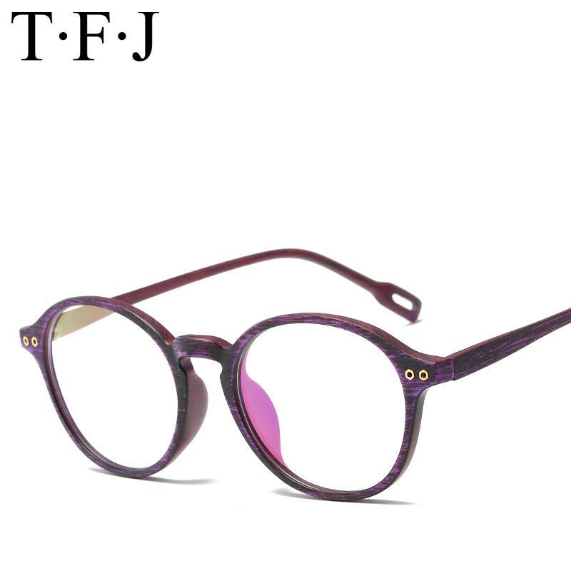 0835ead56d1 Fashion Retro Round Women Glasses TR90 Full Eyeglasses Frame ...