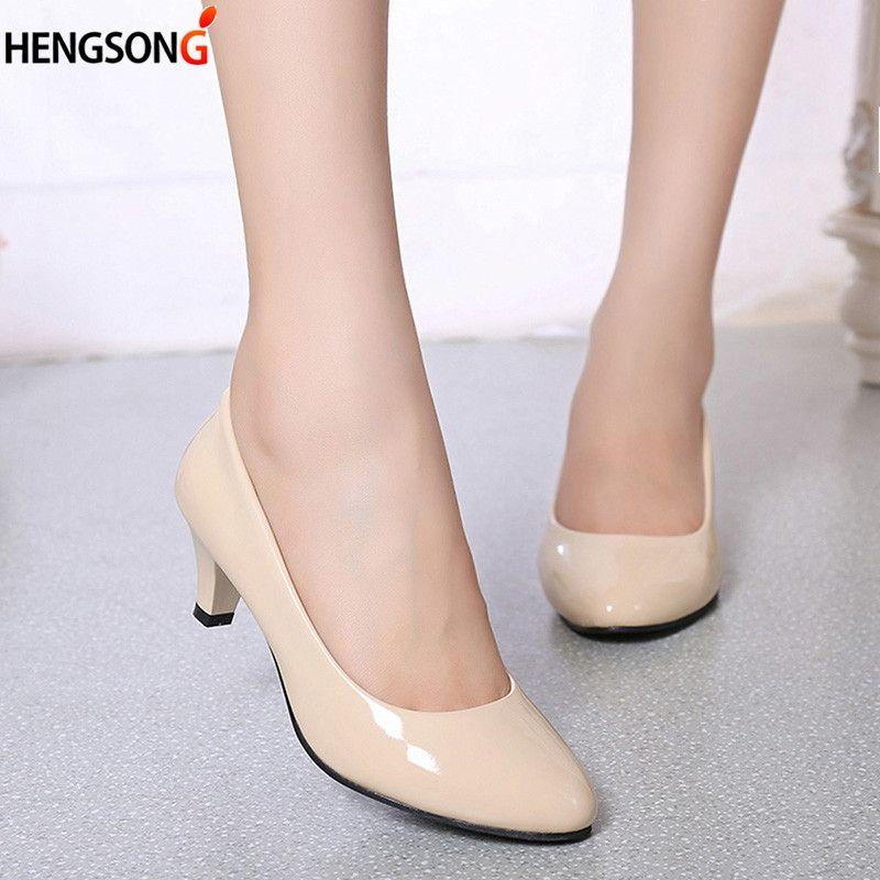 Moyen Bureau Femme Mesdames Talon Acheter Escarpins Chaussures De dBQCeWrExo