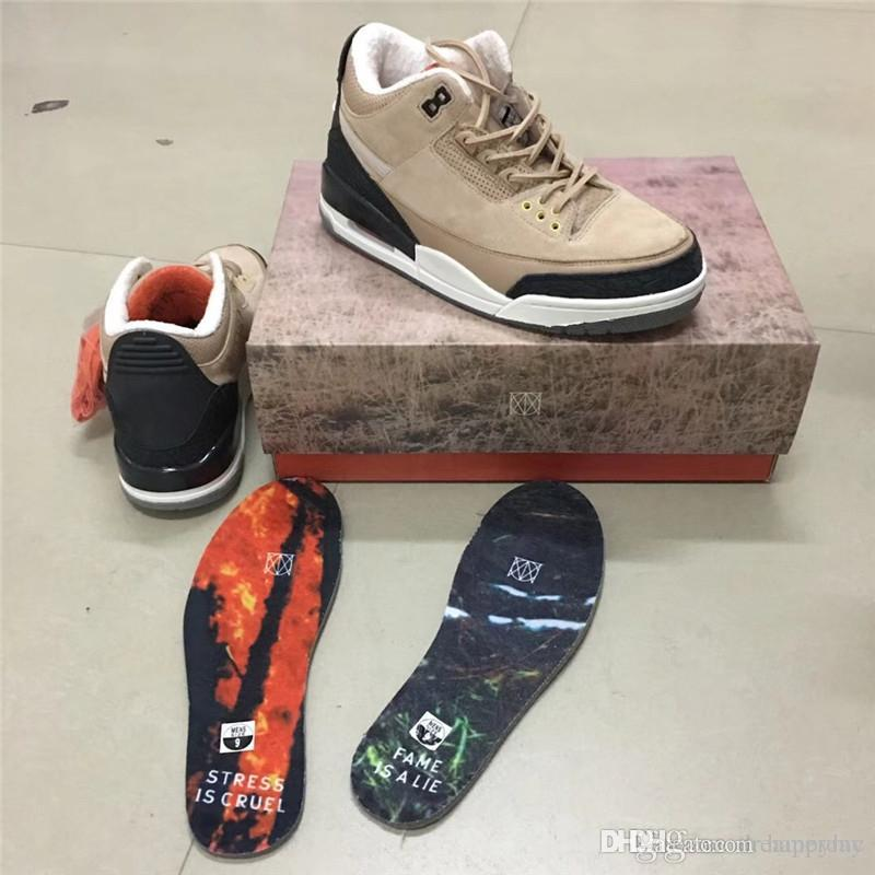 9c08ea93a7ecff 2019 Newest 3 JTH Bio Beige 3s HIGHER Suede Basketball Shoes For Man  Limited Sports Sneakers With Box Authentic FAME IS A LIE STRESS IS CRUEL  From Happymc