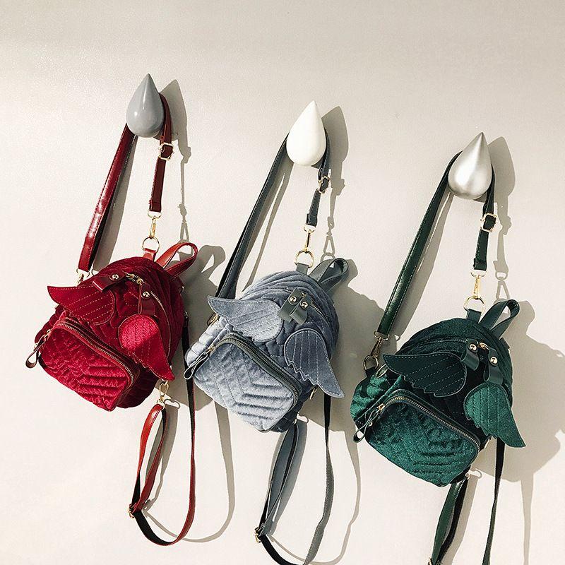 34894496c700 Kids Backpack Kindergarten Girls School Bags Cute Children Angel Wings  Shoulders Bags Embroidery Threads Design Girls Fashion Handbags Book Backpacks  Child ...