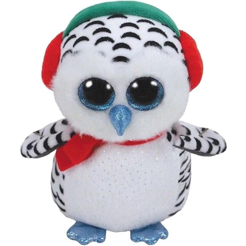 2019 Ty Beanie Boos 6 15cm Nester The Owl Plush Regular Soft Big