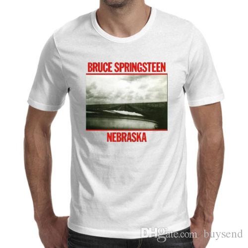 c0324367e Bruce Springsteen Nebraska Logo White T Shirt Cool Shop For T Shirts Online  T Shirt With A T Shirt On It From Buysend, $10.03  DHgate.Com