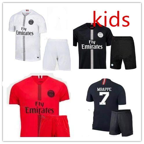 bb138e7ba 2019 Champions League Psg Soccer Jersey Kit Paris 18 19 MBAPPE Black  Maillot De Foot 2018 2019 CAVANI PRE MATCH Boys Child Football Shirts From  Neymar10
