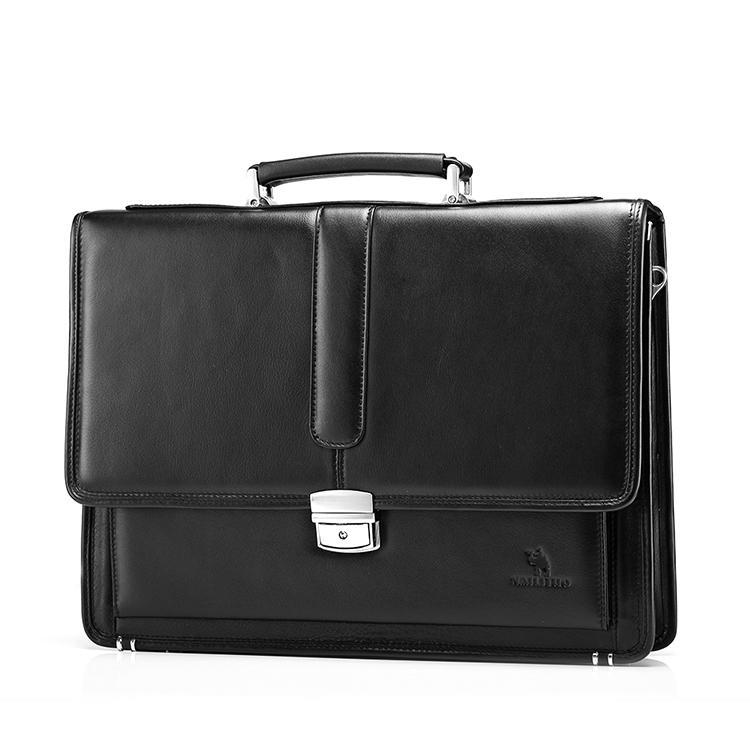 Wholesale- Free Shipping Hot Men's Genuine Leather Vintage Frmal Business Lawyer Briefcase Messenger Shoulder Attache Portfolio Tote T8880