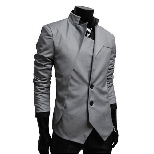 Летом 2016 года мужчины Metrosexual небольшой корейский воротник асимметричный дизайн костюм мужской личности небольшой пиджак