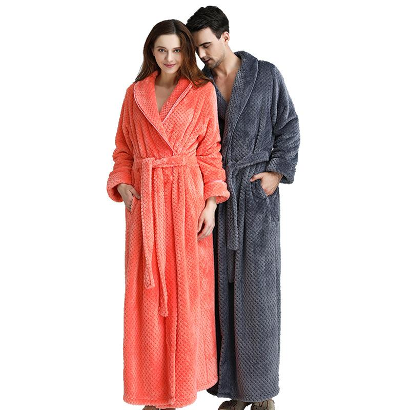2019 Long Bathrobe Home Wear Clothes Dressing Gown Womens Bathrobe