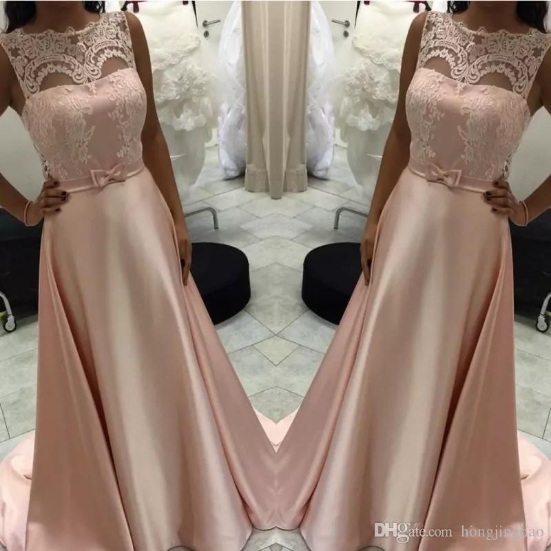Sırf Abiye A-Line Şeftali Aplikler Yay Ile Kanat Uzun Balo elbise Anne Elbise 2019 Custom Made Robe de soriee