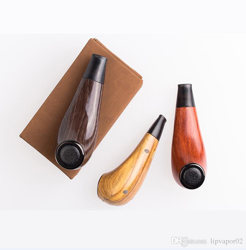 100 Authentic Kamry Turbo K E Pipe Vape Electronic Cigarette Hookah Kit 1100mah Wooden E Pipe Mod Vapor Electronic Cigarette
