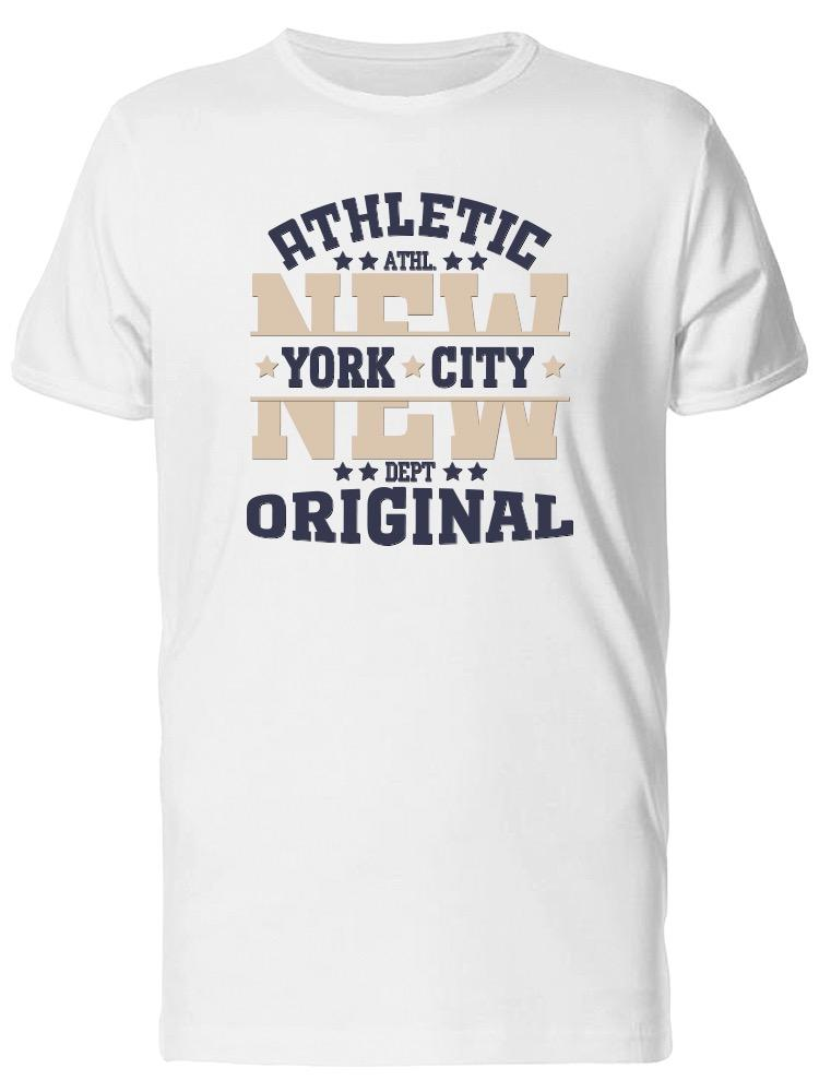 Athletic Nyc Original Men S Tee Image By Shutterstock Funny Tee Shirts  Hipster O Neck Cool Tops Hip Hop Short Sleeve It Tee Shirts As T Shirt From  ... e7357630caa