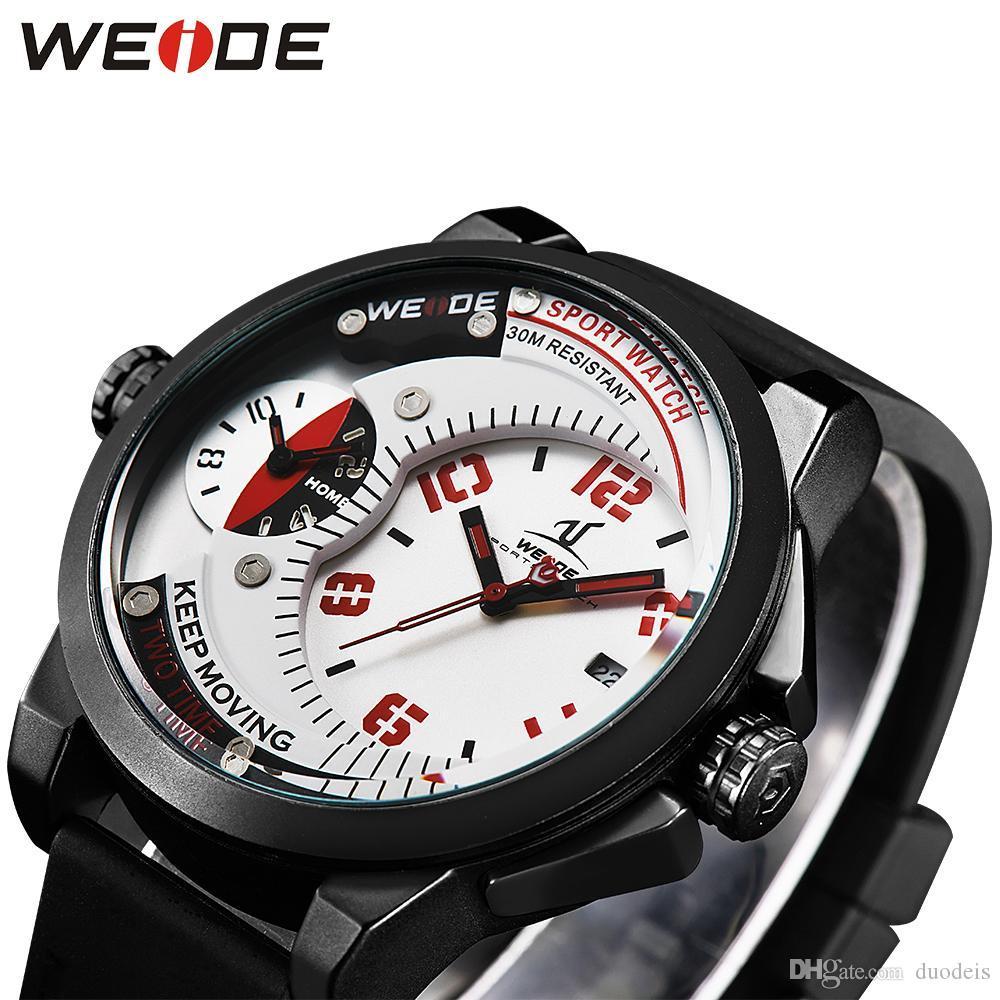 87b6a582c39 ... Homens Relógios Top Marca De Luxo Dos Homens Relógio Do Esporte  Discontos Branco Pulseira Do Exército Relógio De Quartzo À Prova D  água De  Duodeis