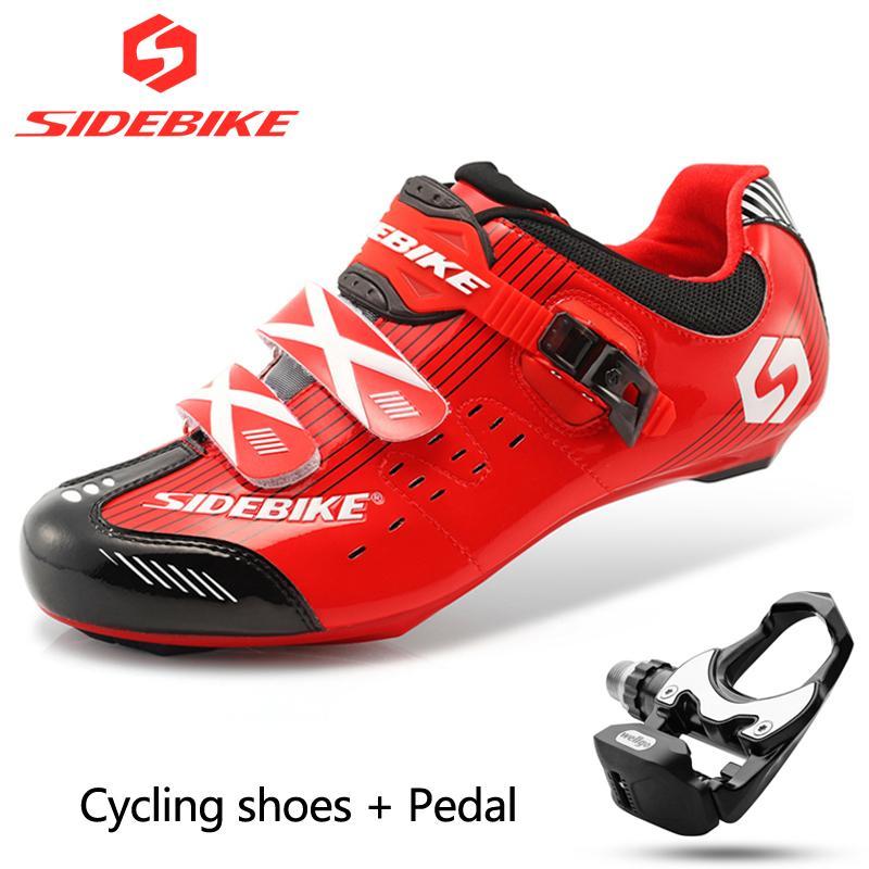 super popular 8a840 8dff6 Scarpe da ciclista da strada per ciclisti, scarpe da ginnastica e pedaliere  professionali, inclusi pedali