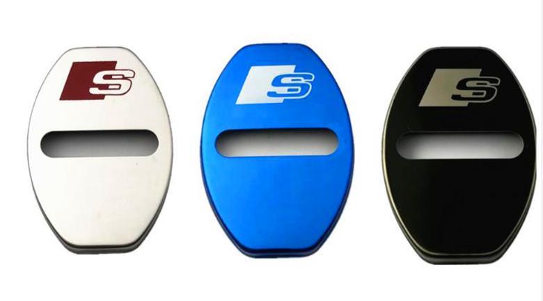 4 Conjunto de PCS / Chegada Nova carro porta tampas de bloqueio protectores caso anti-corrosivo para AUDI A1 A3 A4 A5 A7 A8 Q3 Q5 Q7 carro estilo