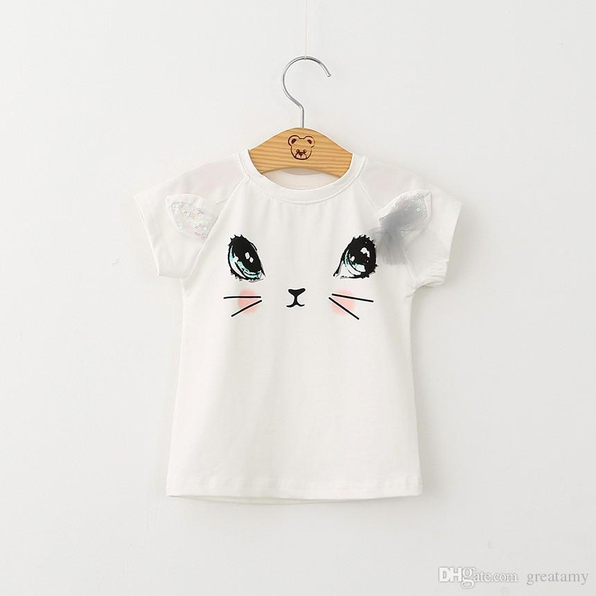 New toddler kids baby girls T-shirt tops+skirt clothes outfits girl's outfits children suit kids summer boutique clothes