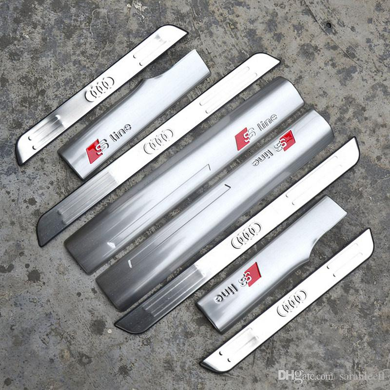 Silver Antiscratch Stainless Steel Barrier Threshold Welcome Pedal - Barrier audi