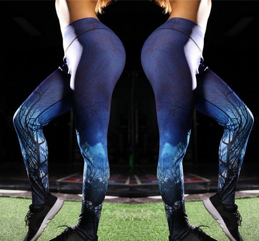 2b8c5b7ce6ca7 2019 2018 New Christmas Printed Leggings Slim Fit Women Yoga Sports Running  Pants Trousers Fashions Vestidos Daily Active Wears FS5274 From  Springwedding, ...