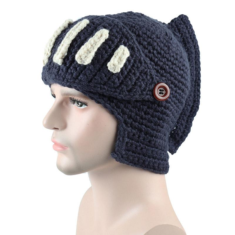 46d2e4bc95a02 2019 Winter Knights Gladiator Rome Knitted Hats Hand Knitted Men S Hat From  Carlt
