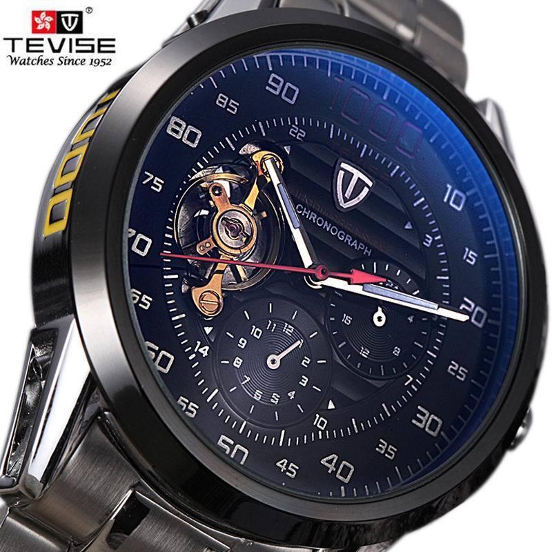 a92b9fd28eeb Compre Relojes Para Hombre De Primeras Marcas De Lujo TEVISE Bobinado Automático  Tourbillon Reloj Mecánico Deporte Militar Relogio Automatico Masculino S917  ...