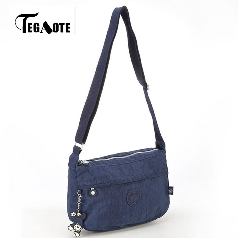 TEGAOTE Nylon Beach Bag Girls Shoulder Bags Handbags Women Famous Brand  Crossbody Bag Solid Bolsa Feminina Purse Sac Femme 2017 Tote Handbags Relic  Purses ... af7f527207090