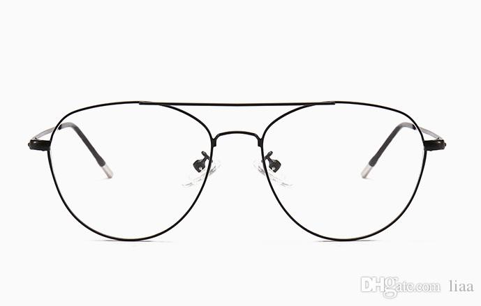 98b7b267b33c 2019 2018 New Retro Round Face Full Frame Flat Glasses Frame Street Shoot  Wild Men And Women Glasses Frame From Liaa