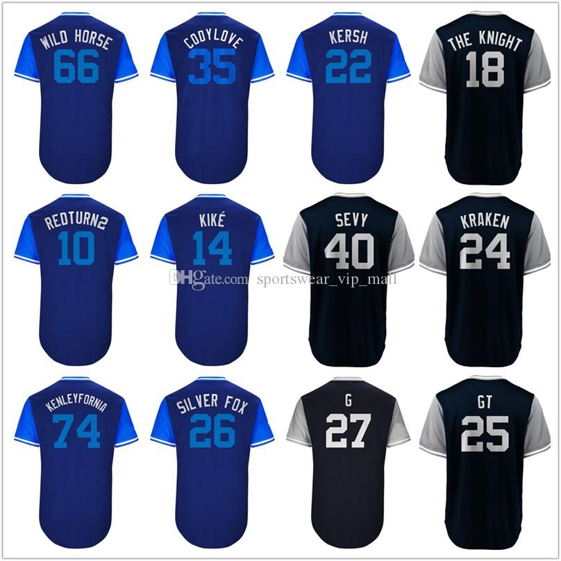 2019 2018 Players  Weekend Kiké Chase Utley Silver Fox Manny Machado El  Ministro Kersh Miguel Andujar Papá Stitched Baseball Jerseys LA From ... 27948346076
