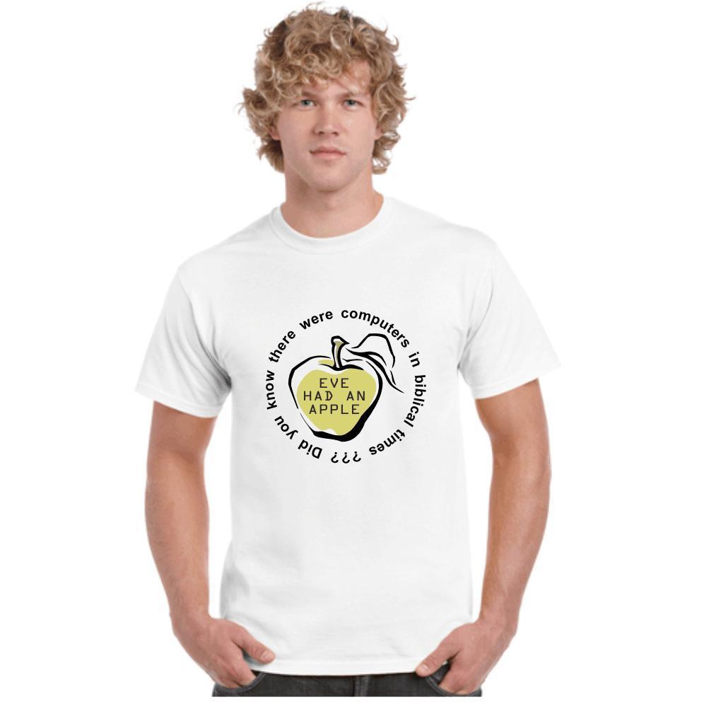 eve had an apple geeks funny jokes computers t shirts tees nerds