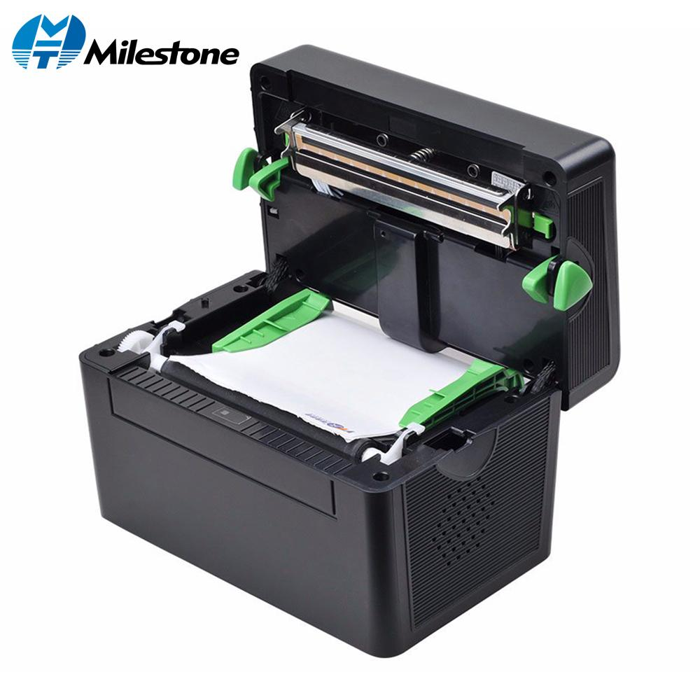 Milestone 4 Inch 127mm/s Cheap Thermal Label Sticker Barcode Printer USB  Port 2D Barcode FREE Bar code Edit Software MHT-DT108B
