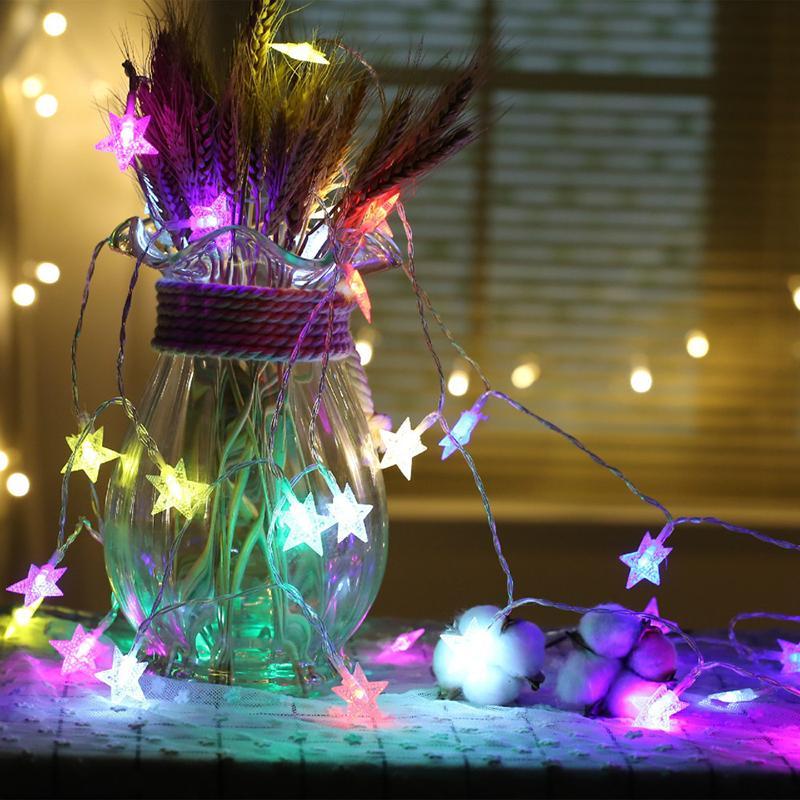 6m 40 Led Flower Star Wedding Garland Home Decor String Light