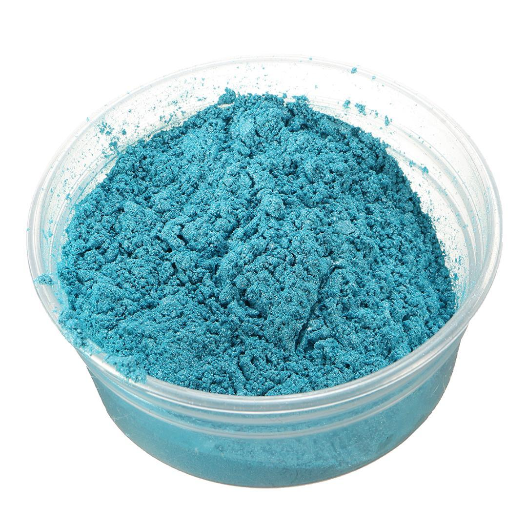 100g Sky Blue DIY Eyeshadow Makeup Pearl Powder Pigment Pearlescent Natural Mineral Mica Nail Glitter Polish Pigment Powders