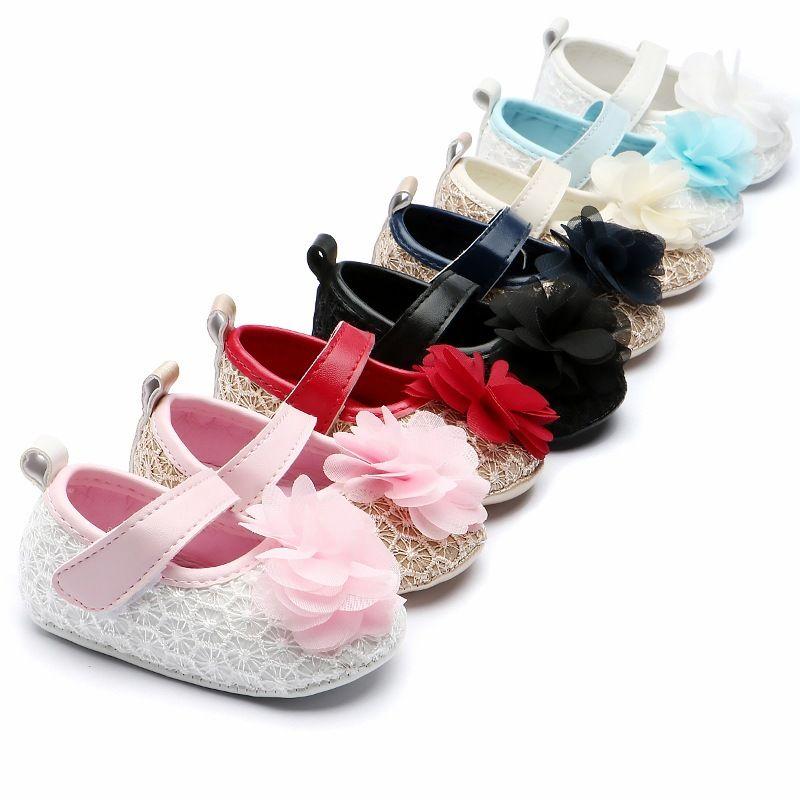 77e4da2fa7b2 2019 2019 New Lace Flower Baby Shoes